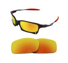 NEW POLARIZED CUSTOM FIRE RED LENS FOR OAKLEY X SQUARED SUNGLASSES